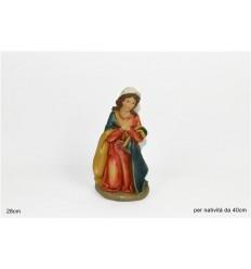 Statua Presepe Madonna 28 cm per nativita' 40 cm